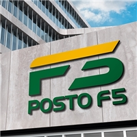 Posto F5, Logo e Identidade, Automotivo
