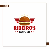 Ribeiro's Burger, Logo e Identidade, Alimentos & Bebidas