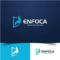 ENFOCA-ENSINO FORA DA CAIXA, Logo e Identidade, Educação & Cursos