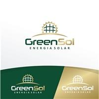 Green Sol Energia Solar, Logo e Identidade, Tecnologia & Ciencias