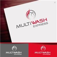 MultiWash Express, Logo e Identidade, Limpeza & Serviço para o lar