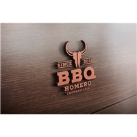 BBQ HOMERO, Logo e Identidade, Alimentos & Bebidas