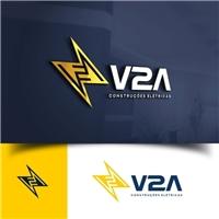 V2A Construções Elétricas LTDA, Logo e Identidade, Metal & Energia