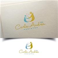Dra. Carla Andréa Pediatra/ Pediatria com Dra. Carlinha, Logo e Identidade, Saúde & Nutrição