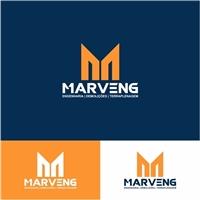 MARVENG ENGENHARIA DEMOLIÇÕES E TERRAPLENAGEM LTDA, Logo e Identidade, Construção & Engenharia