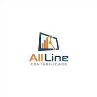 All Line Contabilidade , Logo e Identidade, Contabilidade & Finanças