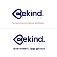 BeKind Branding por Luciana Chiesa , Logo e Identidade, Marketing & Comunicação