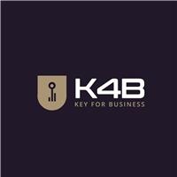 K4B - Key For Business, Logo e Identidade, Segurança & Vigilância