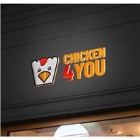 CHICKEN4YOU, Logo e Identidade, Alimentos & Bebidas