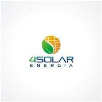 """4solar (""""For Solar""""), Logo e Identidade, Construção & Engenharia"""