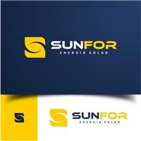 SUNFOR / Projetos de energia fotovoltaica (energia solar), Logo e Identidade, Metal & Energia