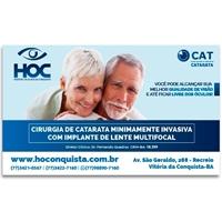 HOC - HOSPITAL DE OLHOS DE CONQUISTA, Peças Gráficas e Publicidade, Saúde & Nutrição