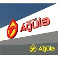 POSTOS ÁGUIA , Logo e Identidade, Automotivo