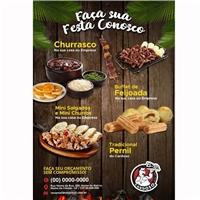 folheto churrasco e demais, Peças Gráficas e Publicidade, Alimentos & Bebidas