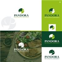 Restaurante Pandora de Lanchonete, Logo e Identidade, Alimentos & Bebidas