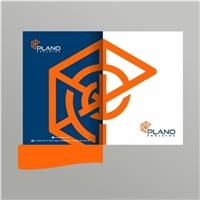 Plano Projetos e Consultoria Ltda, Logo e Identidade, Construção & Engenharia
