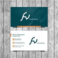 FV CONSULTING, Logo e Identidade, Consultoria de Negócios