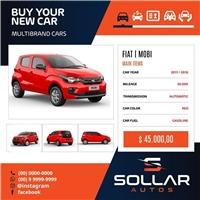 Sollar Autos, Web e Digital, Automotivo