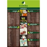 Restaurante Pandora, Peças Gráficas e Publicidade, Alimentos & Bebidas