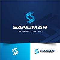 Sandmar Transporte Terrestre LTDA, Logo e Identidade, Logística, Entrega & Armazenamento