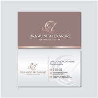 Dra Aline Alexandre Dermatologista , Logo e Identidade, Saúde & Nutrição