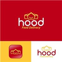 Hood - Food Delivery, Logo e Identidade, Alimentos & Bebidas