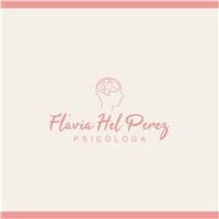 Psicóloga Flávia Hel Perez, Logo e Identidade, Saúde & Nutrição