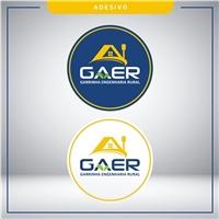 GAER => GARRINCHA ENGENHARIA RURAL, Logo e Identidade, Construção & Engenharia