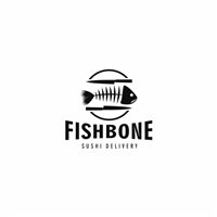 Fishbone Sushi, Logo e Identidade, Alimentos & Bebidas