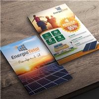 Energia Total - Energia Solar, Peças Gráficas e Publicidade, Metal & Energia