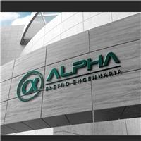 Alpha eletro engenharia, Logo e Identidade, Construção & Engenharia