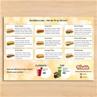 Freshh, Peças Gráficas e Publicidade, Alimentos & Bebidas