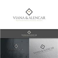 Viana e Alencar Advogados Associados, Logo e Identidade, Advocacia e Direito