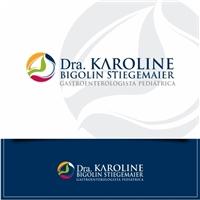 Dra Karoline Bigolin Stiegemaier - Gastropediatra, Logo e Identidade, Saúde & Nutrição