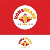 ConeShake (liberdade, caso queiram usar a palavra cone com K, Kone), Logo e Identidade, Alimentos & Bebidas