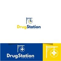 Drugstation, Logo e Identidade, Saúde & Nutrição