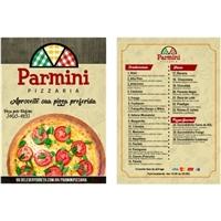 PARMINI PIZZARIA, Peças Gráficas e Publicidade, Alimentos & Bebidas