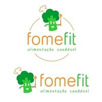 """O nome da empresa é """"fome fit"""" (caixa baixa mesmo)., Logo e Identidade, Alimentos & Bebidas"""