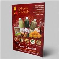 Nome da empress: Sabores D'Angola / frase comercial:  sabor saudável, Peças Gráficas e Publicidade, Alimentos & Bebidas