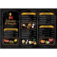 Nome da empress: Sabores D'Angola / frase comercial:  sabor saúdavel, Peças Gráficas e Publicidade, Alimentos & Bebidas