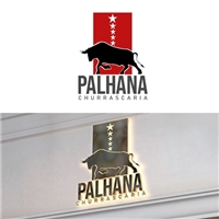 CHURRASCARIA PALHANA, Logo e Identidade, Alimentos & Bebidas