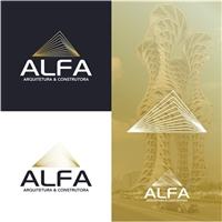ALFA ARQUITETURA E CONSTRUTORA , Logo e Identidade, Arquitetura