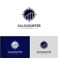 Saleshunter.academy, Logo e Identidade, Educação & Cursos