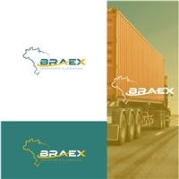 BRAEX TRANSPORTES E LOGISTICA INTERNACIONAL LTDA, Logo e Identidade, Logística, Entrega & Armazenamento