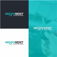 MOOVRENT-ALUGUEL DE CARROS, Logo e Identidade, Automotivo