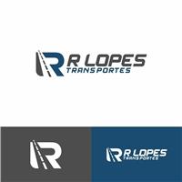 R LOPES  TRANSPORTES , Logo e Identidade, Logística, Entrega & Armazenamento