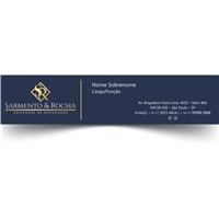 Sarmento & Rocha - Sociedade de Advogados, Logo e Identidade, Advocacia e Direito