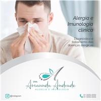 Drª Amannda Andrade - Alergia e Imunologia, Web e Digital, Saúde & Nutrição