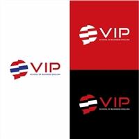 VIP School of Business English, Logo e Identidade, Educação & Cursos