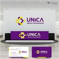 UNICA SERVICE TERCEIRIZAÇÃO , Logo e Identidade, Segurança & Vigilância